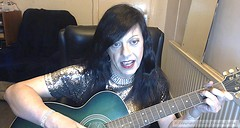 Feb 2016 (emilyproudley) Tags: cute tv dress guitar girly feminine cd tgirl transgender tranny transvestite trans sequins crossdresser transsexual sequin convincing tgirls xdresser