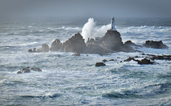 Southerly storm 2 (pa.herbert) Tags: sea lighthouse waves jersey channelislands corbiere