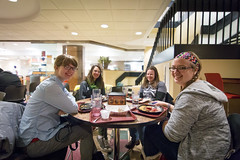 Margras in Tower Dining Center (Housing and Dining Services) Tags: tower illinois university center stevenson meal dining mardigras eastern eiu easternillinoisuniversity diningcenters