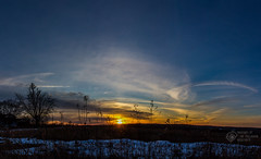 February Sunset (CalTek Design) Tags: sunset sky sun ontario canada field clouds landscape february peterborough