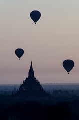 Balloons over Bagan (luca.onnis) Tags: sunrise balloons landscape temple photography three asia layers myanmar bagan magiclight lucaonnis
