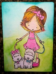 9. Girly ATC - available (CraftyBev) Tags: girl atc stamping colouring inking