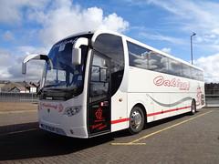 YR10BBX Oakleaf Coaches in Blackpool (j.a.sanderson) Tags: coach d oakleaf ta blackpool coaches scania nichols barnsley lahden omniexpress k360eb4 yr10bbx