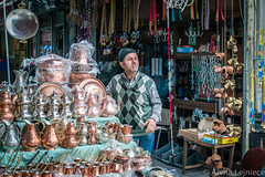 Kucukpazari 6 (aivitalejniece) Tags: street city travel winter people man male tourism turkey outdoors person market smoke stock culture istanbul smoking copper bazaar dishes sell selling seller turkish turk eminonu