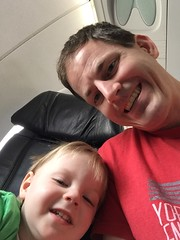 "Paul and Daddy Take a Selfie on Paul's First Plane Ride • <a style=""font-size:0.8em;"" href=""http://www.flickr.com/photos/109120354@N07/25777070580/"" target=""_blank"">View on Flickr</a>"