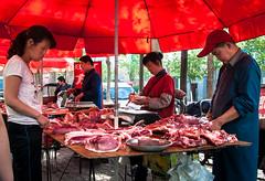 At the Farmer's Market (Mule67) Tags: china food sheep farmers market fresh meat butchers urumqi 2011 5photosaday