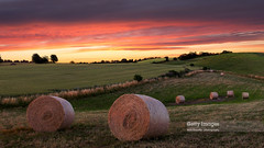 Happy Hour (Nick Brundle-Photography) Tags: longexposure sunset nature landscape denmark evening july getty hay bales scandinavia gettyimages leefilters canonefs1585mmf3556isusm canoneos600d