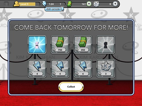 Kim Kardashian: Hollywood Chests: screenshots, UI