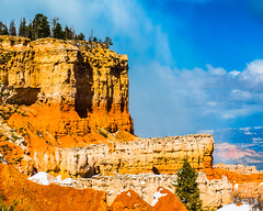 Bryce Canyon 25 (MarcCooper_1950) Tags: trees red sky orange snow colors clouds landscape utah nikon scenery rocks vivid canyon cliffs hills southern boulders hoodoo bryce rainfall hdr formations lightroom mounatins brycecanyonnationalpark geologic d810 marccooper