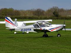 G-CDTA Cosmik Aviation EV-97 TeamEurostar UK cn 2509 Sywell 23Apr16 (kerrydavidtaylor) Tags: eurostar aerotechnik