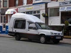 Renault  Extra  Stimson  Trailfinder. (Lawrence Peregrine-Trousers) Tags: personal 5 small renault express camper rapid extra lightweight ffffffffff super5 autoshite superfive