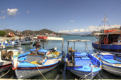 Crowded fishing (Tony Shertila) Tags: sea sky water weather geotagged boats fishing europe day harbour outdoor jetty horizon clear greece crete fishingboats grc fourni elonda geo:lat=3526252378 geo:lon=2572172999 20160411140004creteeloundapm1