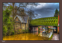 The Orange Canal (A Digital Artist) Tags: bridge building architecture canal northwest lancashire 1855mm barge hdr bridgewatercanal monton canon1855mm kevinwalker canon1100d