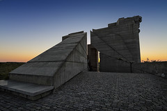 Pushing the Envelope (The New Motive Power) Tags: sunset sculpture monument concrete state dusk bulgaria empire years founders cubist 1300 bulgarian shumen   canon7d