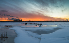 Sunila (Jyrki Salmi) Tags: morning winter ice clouds sunrise finland nikon jyrki kotka d600 1635mm sunila salmi sunilacellulosefactory