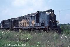 N&W 389 on 8-5-79 (C.W. Lahickey) Tags: ohio nw alco rs11