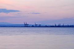 DSC_0076 (marcobasic) Tags: sunset sea panorama seaside tramonto mare greece porto grecia thessaloniki timeless macedonian makedonia salonicco  macedoniagreece