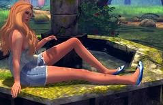 Lazy Romantic (SunTvilling) Tags: fashion tea sunday secondlife uber purepoison truthhair tresblah