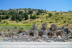 2014-May-23-Ephesus-8.jpg (mikelindle) Tags: old travel castle history stone architecture turkey wonder greek temple ancient ruins europe roman hiking euro library gothic columns churches backpacking backpack corinthian pillars backpacker metropolitan goths selcuk ephesus izmir doric anatolia efes gladiators ancientworld ionia ruinsofephesus territorialconquest bookofrevalation sevenwondersofancientworld templeofartimus ephesuspamu2014