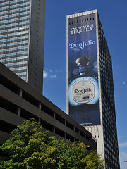 Dallas - Know Your Tequila (Drriss & Marrionn) Tags: street city usa building lines skyline architecture skyscraper buildings advertising concrete dallas cityscape texas skyscrapers outdoor tequila alcohol highrise infrastructure drug booze modernarchitecture advertisment streetviews dallastx concretejungle donjulio