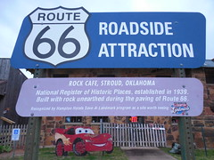 Route 66 Attraction Sign (jimmywayne) Tags: oklahoma route66 historic stroud rt66 lincolncounty