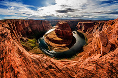 Horseshoe Bend April 8 2016-1613 warped back to normal (houstonryan) Tags: arizona lake art river print lens photography utah colorado pretty photographer bend ryan dam perspective houston az warped fisheye photograph page powell below horseshoe redrock 8mm houstonryan