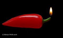 Week 16-2016 (mpw1421) Tags: red stilllife food hot blackbackground nikon flame chilli d60 unlimitedphotos wk1652 522016edition 522016