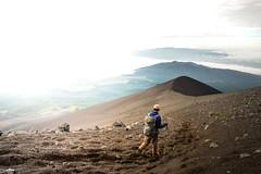 Time to go home... (PauloRossi) Tags: sky mountain nature sport japan sunrise landscape outdoors climb sand fuji outdoor peak hike adventure trail mountfuji  climber  gotembatrail
