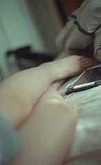 (Chlo Walker) Tags: morning light selfportrait colour film self 35mm bed legs kodak body colourfilm