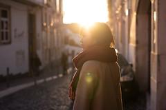 elaine (LCK.) Tags: sunset portrait sun against girl backlight 50mm evening nikon warm flare d750 rimlight