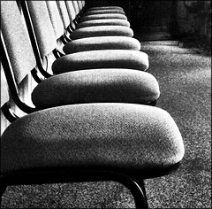 And the people (Bob R.L. Evans) Tags: abstract office pattern chairs symbol symmetry tension stilllifechair ipadphotography defamilarization
