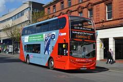NCT Scania N230UD 608 YP63WFH - Nottingham (dwb transport photos) Tags: nottingham bus alexander dennis scania nct enviro decker nottinghamcitytransport 608 yp63wfh