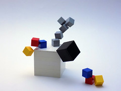 Collapse (cmaddison) Tags: art toy lego kinetic cube minimalism primarycolors
