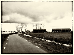 (farm) boerderij, Rijperweg, Uitdam, Netherlands (CBP fotografie) Tags: bw holland netherlands monochrome landscape blackwhite zwartwit farm nederland landschap noordholland boerderij zw northholland uitdam