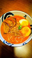 Spicy Ramen (alanosaur) Tags: food house toronto soup restaurant egg shrimp bbq pork ramen meal koi noodles noodle spicy broth 2016 sakana