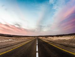 The Road (gilkorin) Tags: road clouds israel skies desert fisheye olympus9mm panasonicgx8