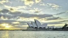Sydney Opera House Sunrise (jbovay) Tags: ocean travel clouds sunrise landscape sony sydney australia circularquay april operahouse hdr cloudscape 2016 oceanscape sonyalpha sonya7 sel2870 sel1635
