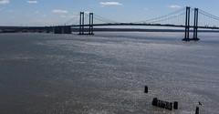 River KAP - Delaware Memorial Bridge (Wind Watcher) Tags: bridge light kite river memorial levitation delta delaware kap ai hobie windwatcher