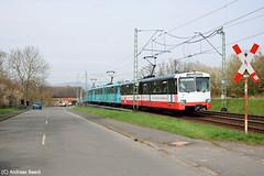 Frankfurt am Main, 03.04.16, Duewag U2 406 + 385 + 378 nahe der Hst. Niederursel (Andreas Beeck) Tags: u2 frankfurt oberursel vgf duewag niederursel