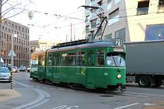 2015-12-03, Basel, Bahnhof St. Johann (Fototak) Tags: switzerland tram basel strassenbahn bvb 652 dwag ligne21