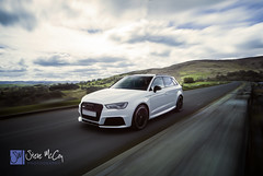 White Audi RS3 (Steve McCoy Photography) Tags: longexposure wales driving rig a3 audi society s3 eco conwy bala watercooled rs3 carrig carcamerarig rs3oc ecotriangle