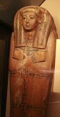 Wooden Sarcophogus (Emily K P) Tags: wood chicago field museum ancient egypt exhibit pharaoh sarcophagus mummy