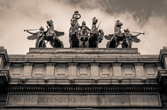 To the Defenders of the Union 1861-1865 (Mathilde Guerin) Tags: new york city nyc newyorkcity urban usa ny newyork history statue america us nikon war arch outdoor united union arc states nikkor defenders 18105 2015 18105mm d5100
