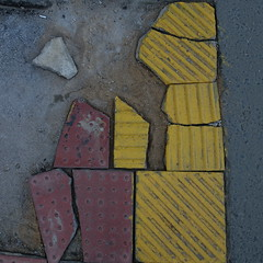 DSC02353 (The Man-Machine) Tags: red broken yellow gray tiles cropped yellowongray redongray hiptocropsquare