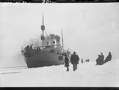 Sampo; jnmurtaja suomenlahdella maaliskuussa 1899 (KansallisarkistoKA) Tags: icebreaker sampo jnmurtaja