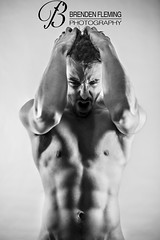 Fighting Your Inner Demons (MrDiscoDucks) Tags: shirtless portrait bw white selfportrait black male guy studio naked nude photography lights illinois nikon tripod 85mm inner your brenden fighting demons selftimer fleming studiolights d810