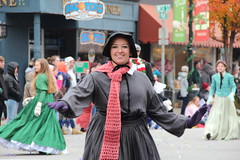 Twirl (Jane Inman Stormer) Tags: christmas holiday girl smile scarf dance costume december saturday indiana parade madison twirl bonnet