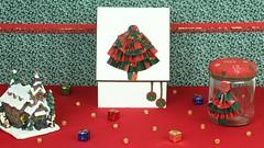 rvore Dobradura Tecido Youtube (ateliesagitario) Tags: natal diy reciclagem decorao pap caixasdecoradas faavocemesmo vidrodecorado reciclagemvidro rvoredobraduratecido