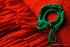 MERRY CHRISTMAS (dimitra_milaiou) Tags: world life christmas xmas red holiday color green love glass smile scarf 35mm happy design diy beads nikon knitting europe pattern colours 7100 d live crafts small joy decoration knit happiness athens hobby diagonal yarn greece gift merry tradition f18 ideas handknitting dimitra sakalak d7100  milaiou