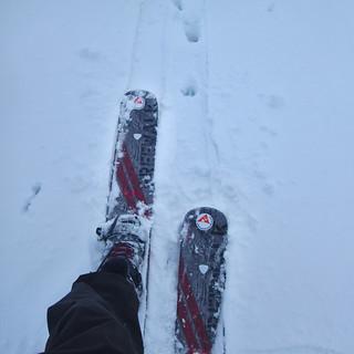 dh - salut aux nouveaux skis-raquettes